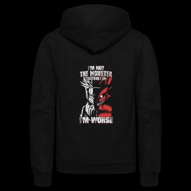 Naruto – I'm not the monster , I'm worse - Unisex Fleece Zip Hoodie