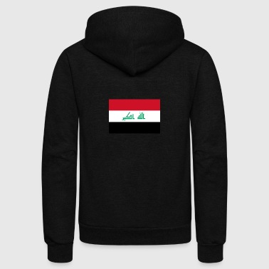 National Flag Of Iraq - Unisex Fleece Zip Hoodie