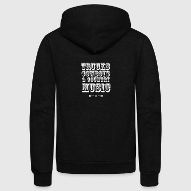 trucks cowboys Country Music Guitar Party beer lol - Unisex Fleece Zip Hoodie by American Apparel