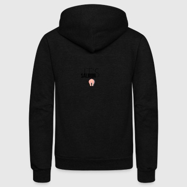 It's Salmon - Unisex Fleece Zip Hoodie