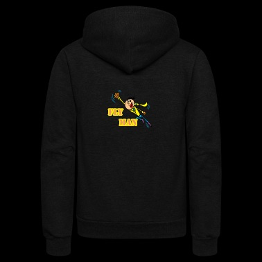 fly man - Unisex Fleece Zip Hoodie