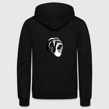 High Resolution Fierce Gorilla - Unisex Fleece Zip Hoodie