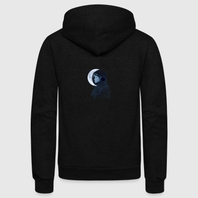 Eclipse astronaut - Unisex Fleece Zip Hoodie by American Apparel