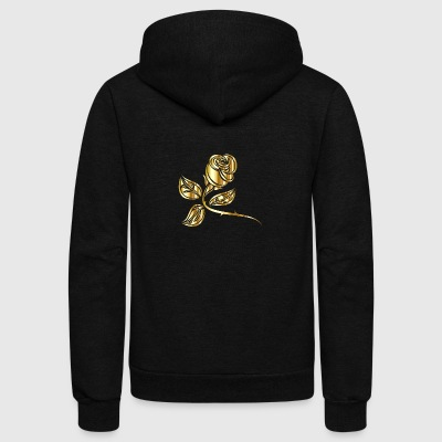 Gold Rose - Unisex Fleece Zip Hoodie by American Apparel