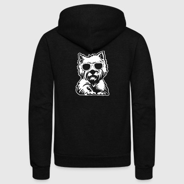 West Highland White Terrier Tee Shirt - Unisex Fleece Zip Hoodie by American Apparel