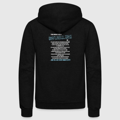 You Might Be A Softball Mom T Shirt - Unisex Fleece Zip Hoodie by American Apparel