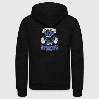 Mom Child Wings T Shirt - Unisex Fleece Zip Hoodie