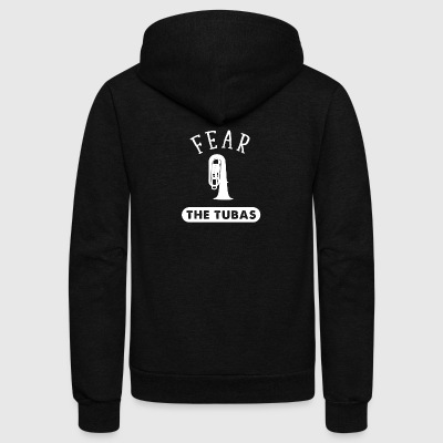 Fear The Tubas - Unisex Fleece Zip Hoodie by American Apparel