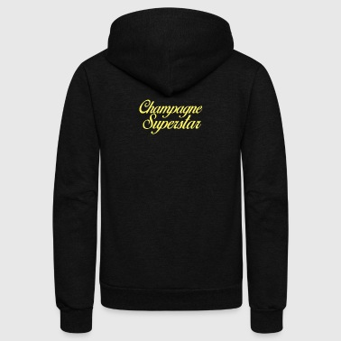 Champagne Superstar - Unisex Fleece Zip Hoodie by American Apparel