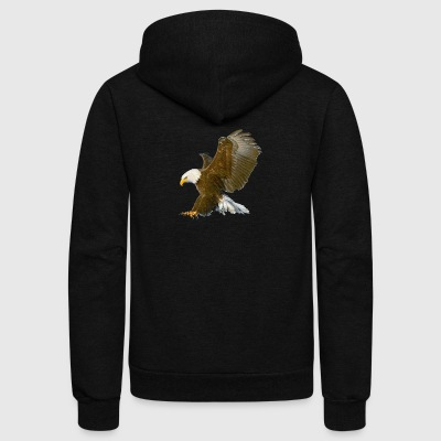 Eagle attack - Unisex Fleece Zip Hoodie by American Apparel
