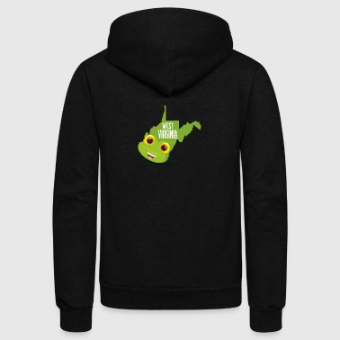 Funny map of West Virginia - Unisex Fleece Zip Hoodie