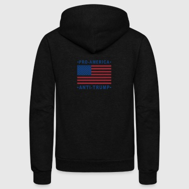 PRO-AMERICA ANTI-TRUMP - Unisex Fleece Zip Hoodie by American Apparel