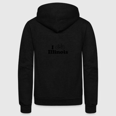 illinois biking - Unisex Fleece Zip Hoodie