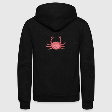 crab - Unisex Fleece Zip Hoodie by American Apparel
