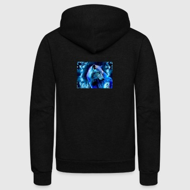 glowing wolf - Unisex Fleece Zip Hoodie
