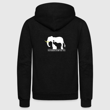 Only elephants should wear ivory - Unisex Fleece Zip Hoodie