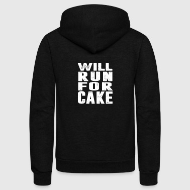 Will Run For CAKE T-Shirt - Unisex Fleece Zip Hoodie