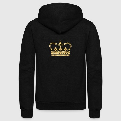 king-gold-crovn-VIP-lable-rap - Unisex Fleece Zip Hoodie by American Apparel