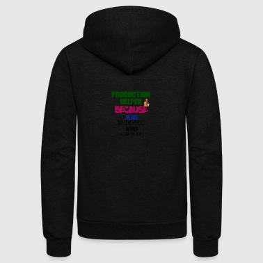 Production Helper - Unisex Fleece Zip Hoodie