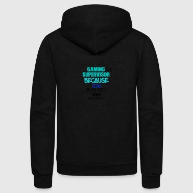 Gaming Supervisor - Unisex Fleece Zip Hoodie
