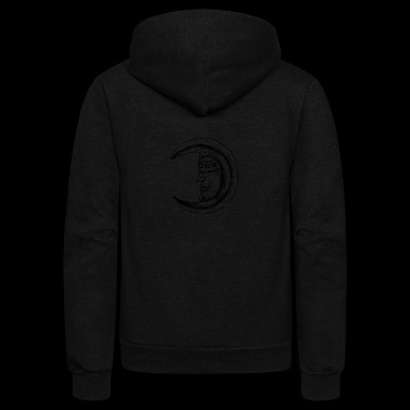 Moon Face - Unisex Fleece Zip Hoodie