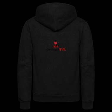 333 Only Half Evil - Unisex Fleece Zip Hoodie