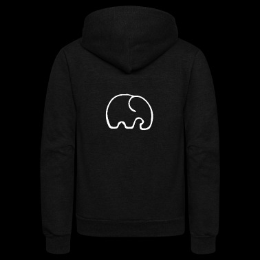 The little Elephant - Unisex Fleece Zip Hoodie