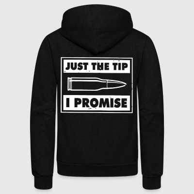 Just the tip I promise shirt - Unisex Fleece Zip Hoodie by American Apparel