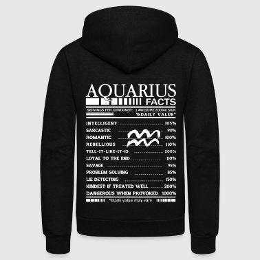 Aquarius facts shirt - Unisex Fleece Zip Hoodie