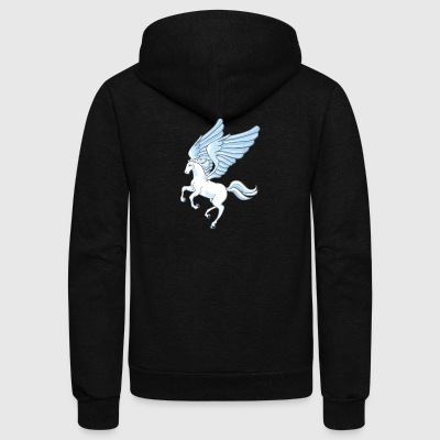 Pegasus - Unisex Fleece Zip Hoodie by American Apparel
