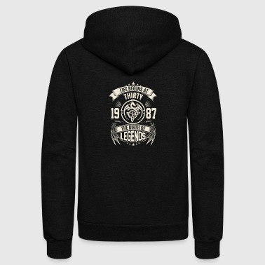 The Birth of Legends 1987 - Unisex Fleece Zip Hoodie