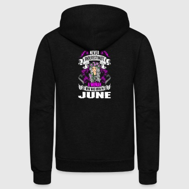 Never Underestimate A Woman Who Was Born In June - Unisex Fleece Zip Hoodie