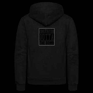 Straight Outta The Tomb City Quote - Unisex Fleece Zip Hoodie