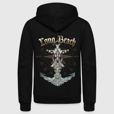 Long Beach Anchor Nautical Sailing Boat Summer - Unisex Fleece Zip Hoodie
