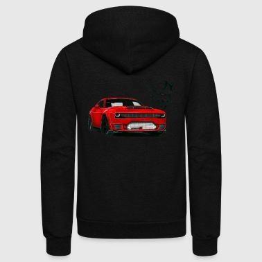 DODGE DEMON - Unisex Fleece Zip Hoodie