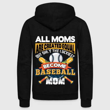 Only The Luckiest Become Baseball Mom T Shirt - Unisex Fleece Zip Hoodie