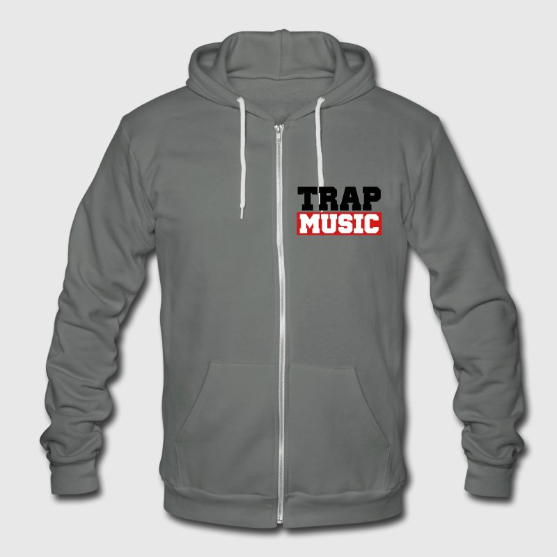 TRAP MUSIC - BASS PARTY - Unisex Fleece Zip Hoodie