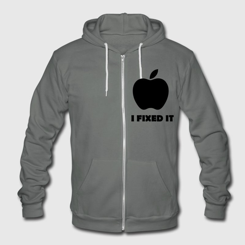 Apple i fixed it Parodie - Unisex Fleece Zip Hoodie