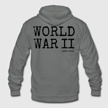 World War Ii World War II 1939-1945 (Black) - Unisex Fleece Zip Hoodie