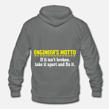 Motto Engineers motto - Unisex Fleece Zip Hoodie