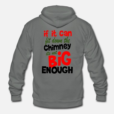 Party Funny Chimney Christmas T-Shirt Holiday Gift - Unisex Fleece Zip Hoodie