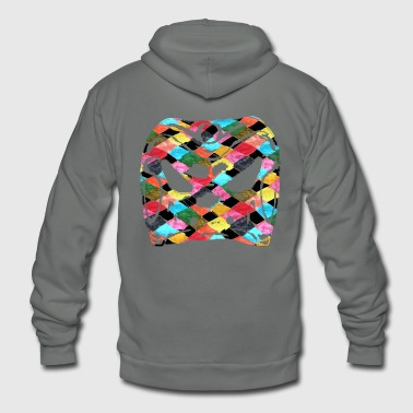 Harlequin Harlequin diamond Arlechinno mask clipart - Unisex Fleece Zip Hoodie