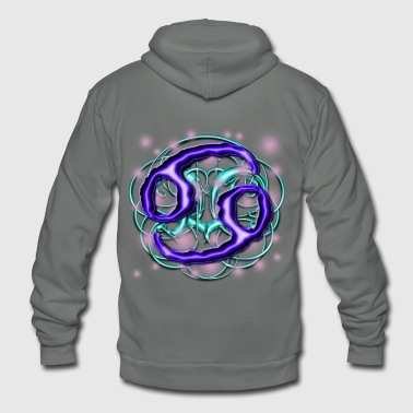 Cancer Astrological Sign [1] Persephone Prdctns - Unisex Fleece Zip Hoodie