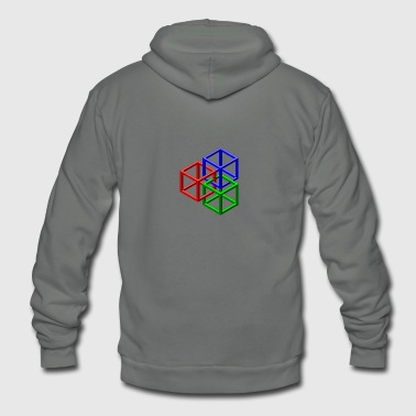 clip art geometric designs - Unisex Fleece Zip Hoodie