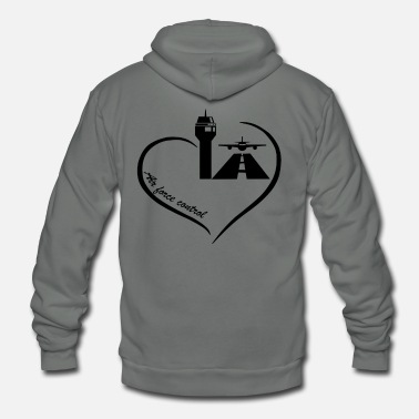 Traffic Air Traffic Control Love Shirt - Unisex Fleece Zip Hoodie