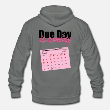 Date Of Birth Pregnancy due date birth gift - Unisex Fleece Zip Hoodie