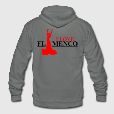 Flamenco I Love Flamenco - Unisex Fleece Zip Hoodie