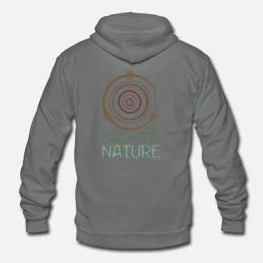 Nature Back to Nature - Unisex Fleece Zip Hoodie