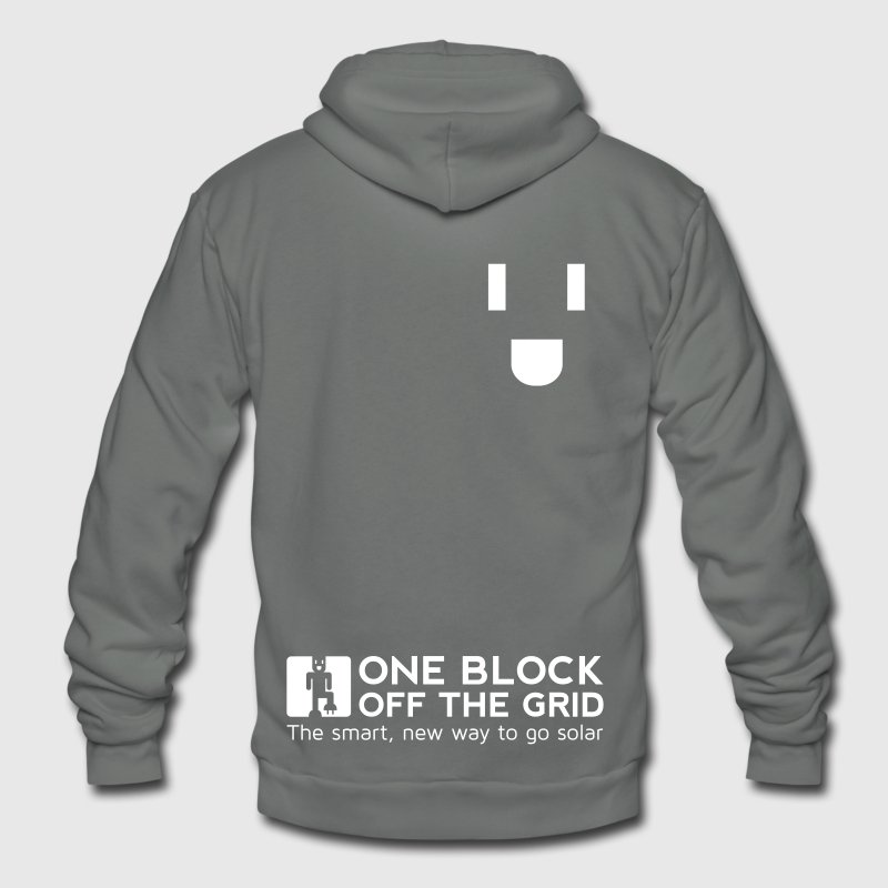One Block Off the Grid Hoodie - Unisex Fleece Zip Hoodie