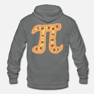 Puns Pizza Pi Funny Visual Math Pun Gift - Unisex Fleece Zip Hoodie